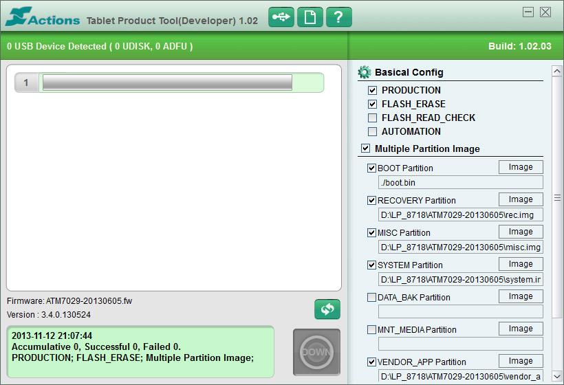 Прошивка планшета на базе ЦПУ Actions 7029: