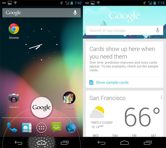 Google Now and voice search