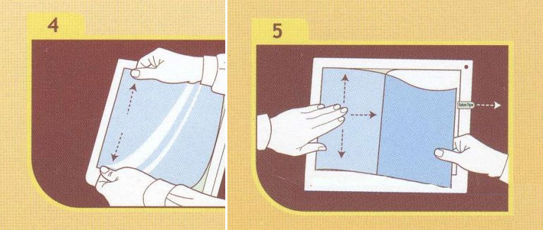 Как клеить защитную пленку на экран планшета